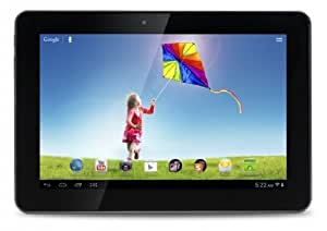 Hannspree SN1AT7 10.1-inch Tablet (Black/Silver) - (ARM Cortex A5 1GHz, 1GB RAM, 16GB Memory, WLAN, BT, 2x Camera, Integrated Graphics, Android 4.1)