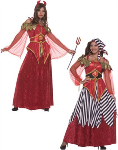 2-in-1 Devil and Pirate Adult Halloween Costume Size Standard