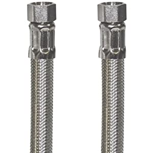 Certified Appliance 77905 Braided Stainless Steel Ice Maker Connector, 6-Feet