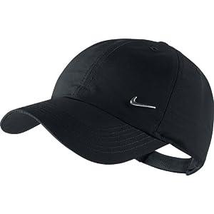 Nike Ya Heritage 86 Swoosh AD - Gorra de tenis para niño, color negro / plateado
