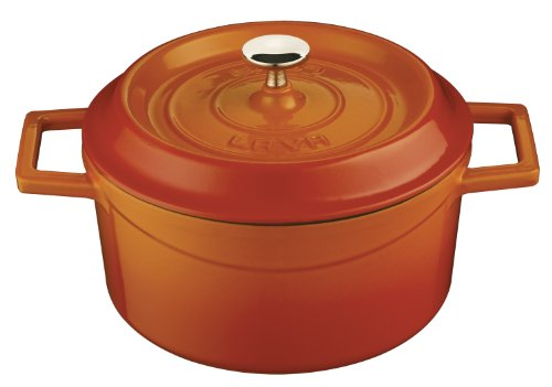 Lava Signature Round Enameled Cast-Iron Dutch Oven - 2 3/4 Quart, Orange Spice front-208981
