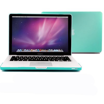 GMYLE Turquoise Robin Egg Blue Frosted Matte Rubber Coated Hard Shell Clip Snap On Case Skin Cover for Apple 13.3&quot; inches Macbook Pro Aluminum Unibody