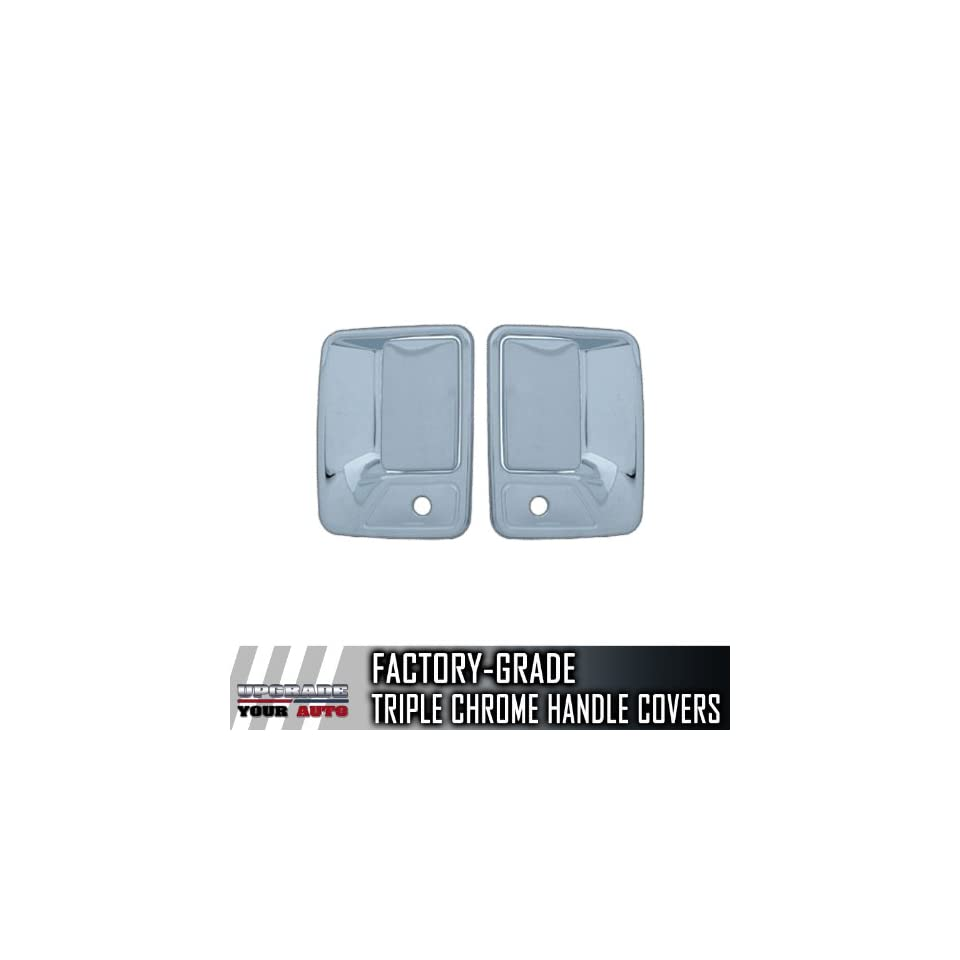 1999 2013 Ford Super Duty 2dr Chrome Door Handle Covers (With Passenger Keyhole)
