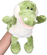Flexibuy 12quot Babies Toddlers Velour Cute Crocodile Alligator Full Body Hand Puppet Toys