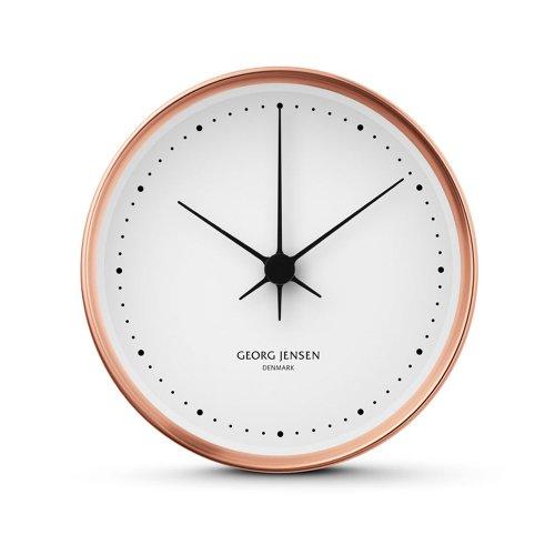 Georg Jensen Henning Koppel kupfer weiß Uhr ø 22 cm