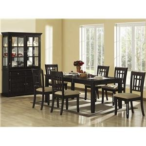 Cheap Casual Dining Table with Chairs and Glass Buffet (B0040Z6D98)