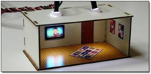 2 X Illuminated Rooms w/flat TV sets (OO kit)
