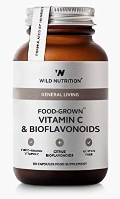 Wild Nutrition Food-Grown Vitamin C & Bioflavonoids - 60 Capsules