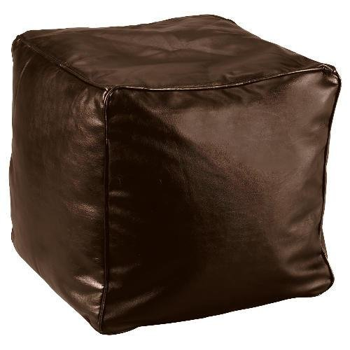 Faux Leather Bean Bag Cube Cover