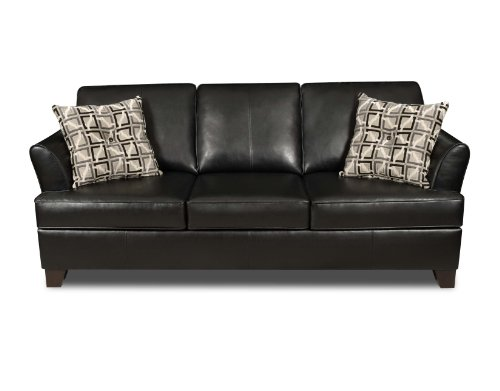 Simmons Sleeper Sofa Simmons Urban Black Soft Leather Sofa From Simmons