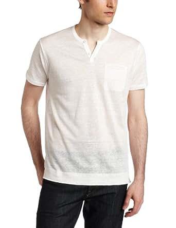 The Tee By Joe's Jeans Men's Wintz Short Sleeve Henley Tee, White, Large