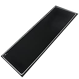 Reflex Lab Large Extended Heavy Mouse Pad / Mat, (White) Stitched Edges, Waterproof, Ultra Thick 5mm, Silky Smooth - 36\
