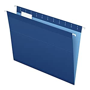 Pendaflex Reinforced Hanging Folders, Letter Size, Navy, 25 per Box (4152 1/5 NAV)