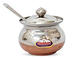 Shubham Ghee Oil Container / Pot Copper Bottom - Small - 200 Ml Anmol S3