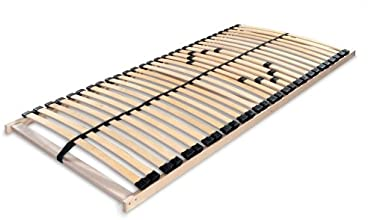 Betten-ABC 4250639100855 Lattenrost MAX 1 NV MZV, zur Selbstmontage mit 28 stabilen Leisten und durchgehenden Holmen, mit mittelzonenverstellung im Beckenbereich, 90 x 200 cm