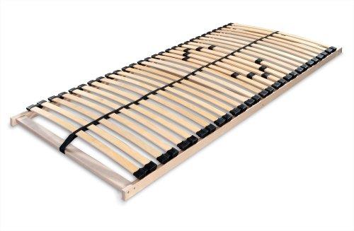 Betten-ABC Lattenrost MAX 1 NV MZV, zur Selbstmontage, mit 28 stabilen und flexiblen Federholzleisten und durchgehenden Holmen, mit Mittelzonenverstellung im Beckenbereich, Größe: 90 x 200 cm thumbnail