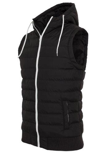 Urban Classics Small Bubble Hooded Vest, black/white, M