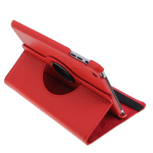 PUレザーケース  iPad mini用 360度回転式 スタンド機能付 高品質!レザーケース レッド アップルアイパッド ミニ スタンドケース  オートスリープ機能付 AppleのiPadミニ用防水ケースLeather Case  iPad mini セール!!