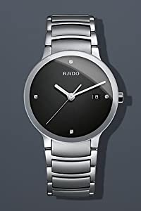 Rado Centrix Jubile Black Diamond Dial Stainless Steel Mens Watch R30927713