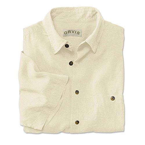 Orvis Men's Hemp/Tencel Shirt, Antique White, Xx Large