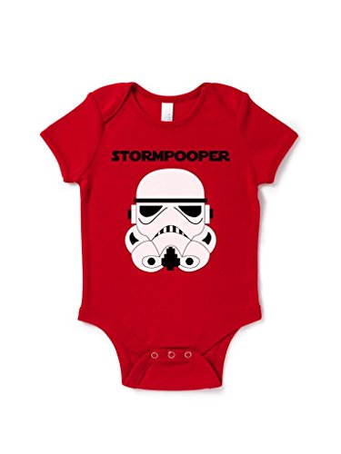 Stormpooper Baby Grow Birthday Gift Present Cute Star Wars Inspired front-844275