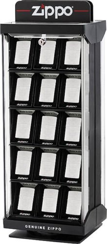 Countertop Display Case with Lock & Key Holds 30 Zippo Lighters