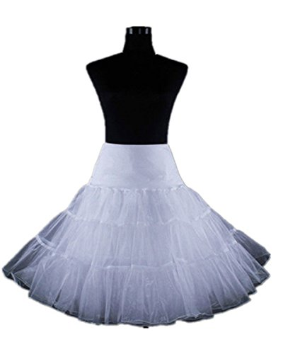 Short High Waist Womens Summer Tulle Women White Skirt Petticoat Rockabilly Tutu