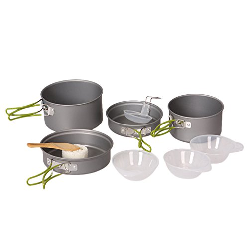 OUTAD Cooking Bowl Pot Pan Set - 10 Piece (Large Pots And Pans compare prices)