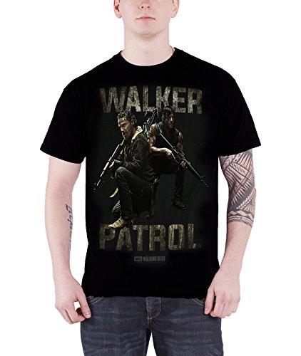 The Walking Dead Walker Patrol Rick daryl Official Mens New Black T Shirt