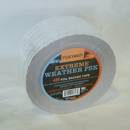 Polyken 438X Extreme Weather FSK (Foil/Scrim/Kraft) Tape: 3 in. x 50 yds. (Silver)