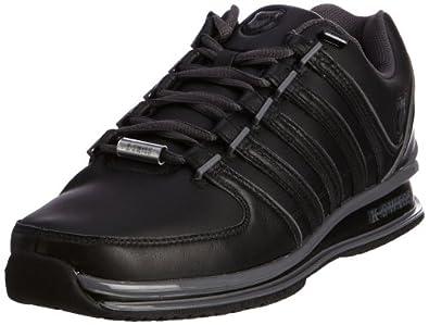 K-Swiss RINZLER SP 02283-017-M, Herren Sneaker, Schwarz (Black/Castle Gray), EU 40 (UK 6.5)