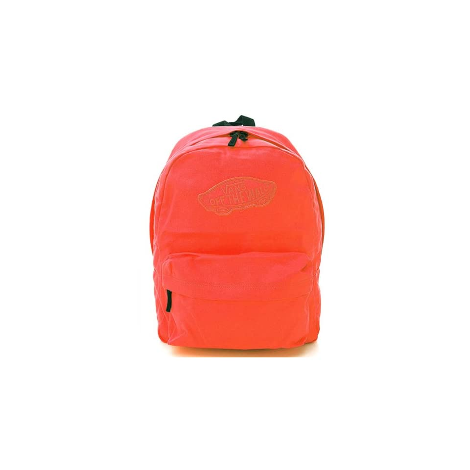 6f8d87e661 VANS Realm Backpack Book Bag Neon Pink Orange (Red) 372408RD (VN 0NZ090L)