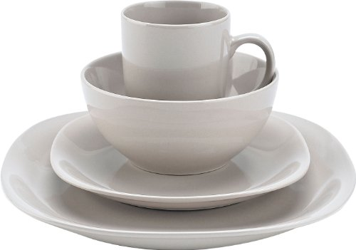 Thomson Pottery 16−pc. White Quadro Set