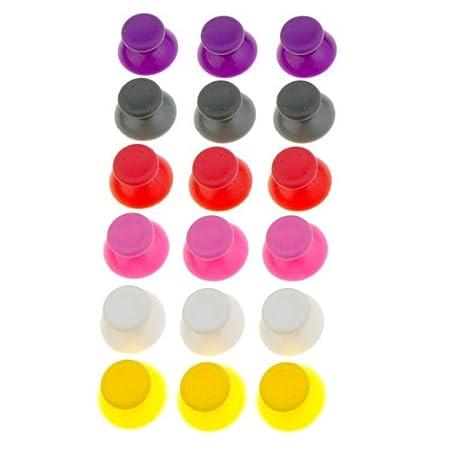18x Analog Thumbsticks Thumb Joystick Stick Cap for XBOX 360 Controller 6 Colors