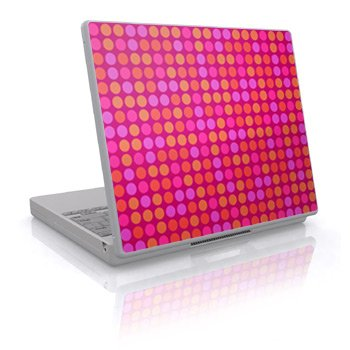 Pink Big Dots Design Skin Decal Sticker Cover for Laptop Notebook Computer - 15