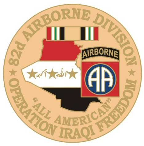 NEW U.S. Army 82nd Airborne Division O.I.F. Pin
