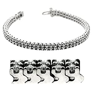 14K White Gold 5cttw Round Diamond Bracelet