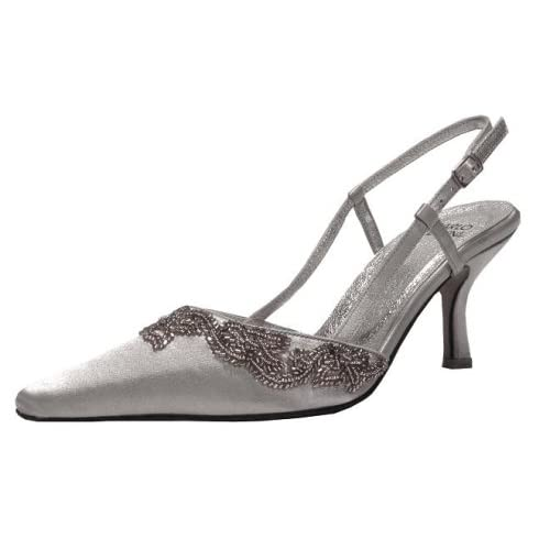 Various designs of elegant wedding shoes.