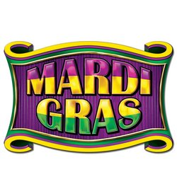 Mardi Gras Sign Party Accessory (1 count)