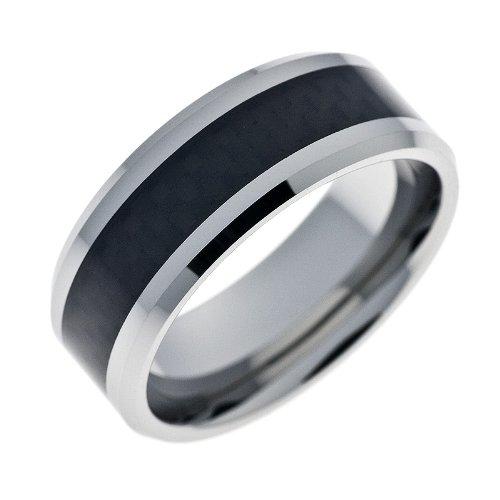 Schumann Design Ehering / Trauring / Partnerring core.wolfram Wolframring mit Carbon Einlage schwarz  TW015.01.60