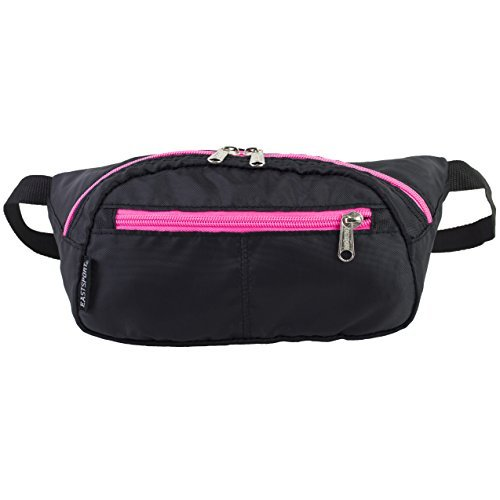 eastsport-absolute-sport-belt-bag-fanny-pack-black-pink-sizzle-by-eastsport