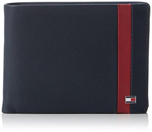 Tommy HilfigerCOLOR BLOCK CC FLAP AND COIN POCKET - Portafogli Uomo , Multicolore (Mehrfarbig (Midnight/Biking Red 902 902)), 13x10x3 cm (B x H x T)