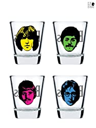 The Beatles Shot Glass by Ek Do Dhai [set of 4]