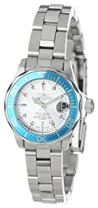 Invicta Women's Quartz Watch with Silver Dial Analogue Display and Silver Stainless Steel Bracelet 14096