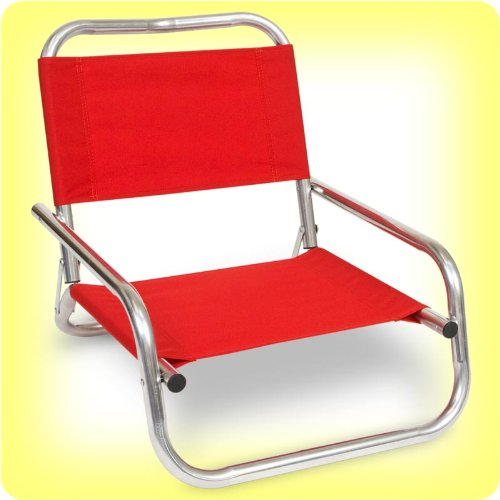 EARTH LOW-BACK BEACH CHAIR w/ Heavy-Wall STRONG 1