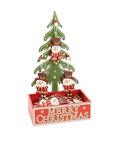 Decoracion Navideña Set Colgante decorativo 24 Uds. Árbol Navidad Muñeco Nieve