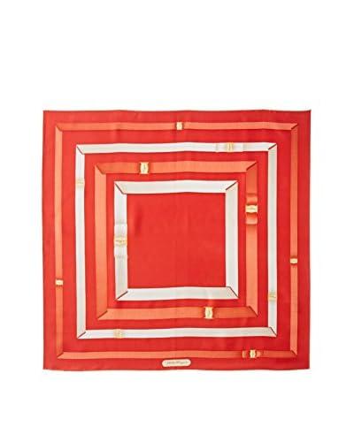 Salvatore Ferragamo Women's Patterned Silk Scarf, Red