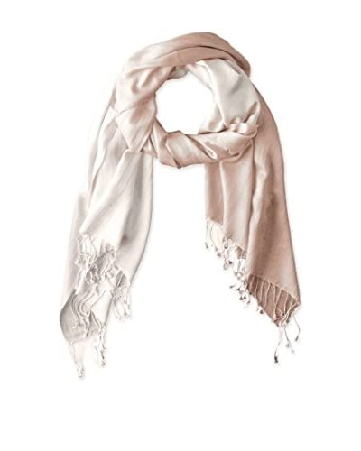 Saachi Women's Cashmere Ombre Scarf, Taupe/Ivory
