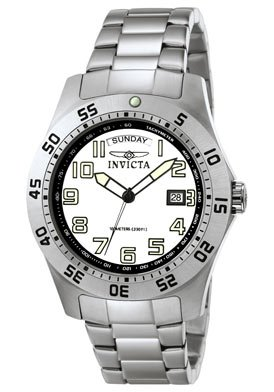 Invicta Men's 5249W Pro Diver Stainless Steel White Dial Watch