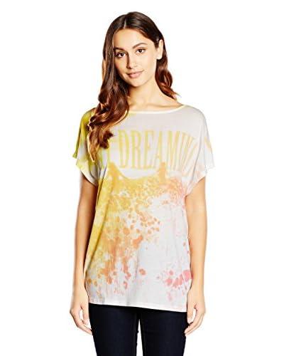 Diesel T-Shirt Manica Corta T-Livy [Bianco/Arancione]